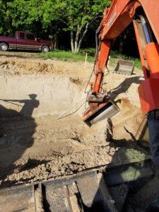 digging, excavation