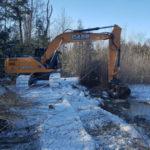 digging, excavator