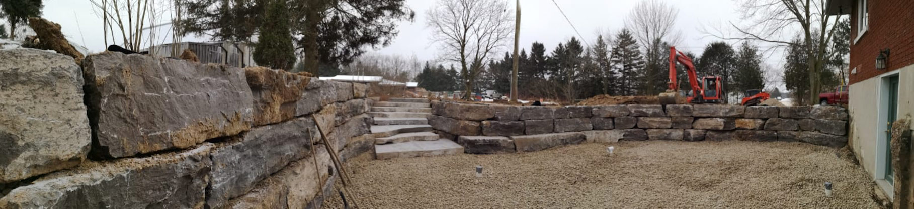 retaining wall ,excavators, excavation services